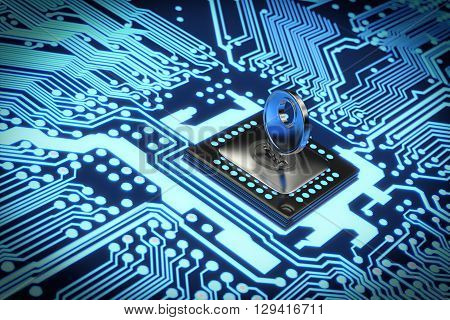 Very high resolution 3D rendering of an electronic circuit