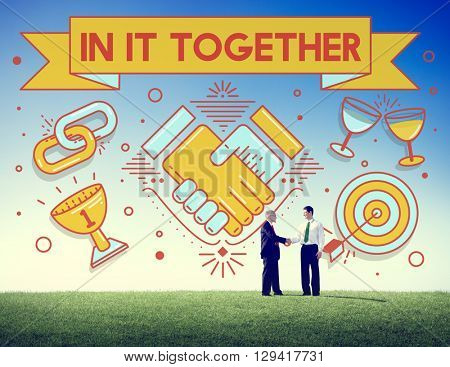 In It Together Team Corporate Connection Support Concept