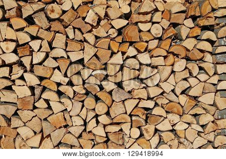 Logsof A Woodpile In The Woodshed