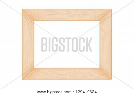 Natural textured wooden rectangular frame with knots and cracks vector illustration
