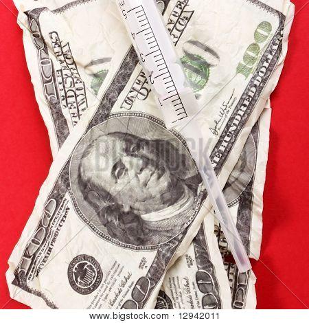 Syringe on the dollars