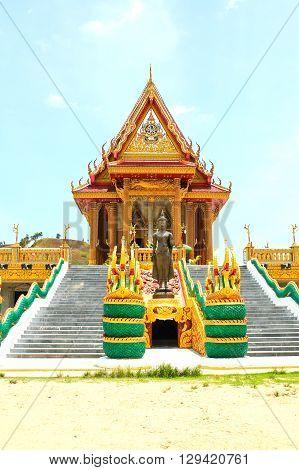 Wat Baan Ngao Temple in Ranong ,Thailand.