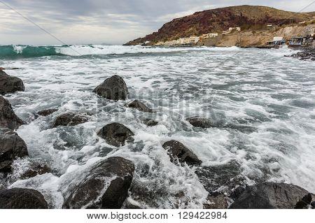 Small sea storm