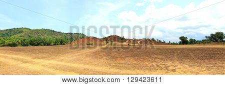 The landscape view of bald mountain or grass mountain in Ranong province Southern ThailandPanorama