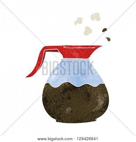 freehand retro cartoon coffee jug