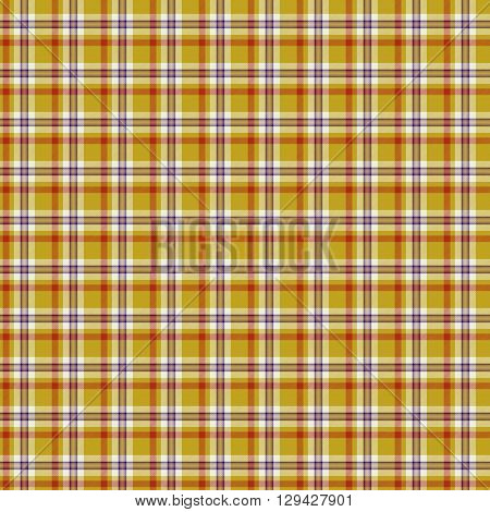Decorative fabric yellow and red texture - tartan