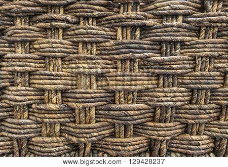 Closeup surface wood weaved basket texture background