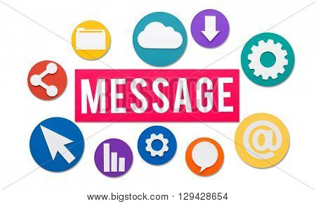 Message Graphics Internet Sharing Concept