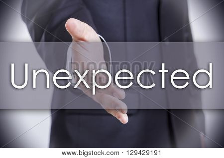 Unexpected - Business Concept With Text
