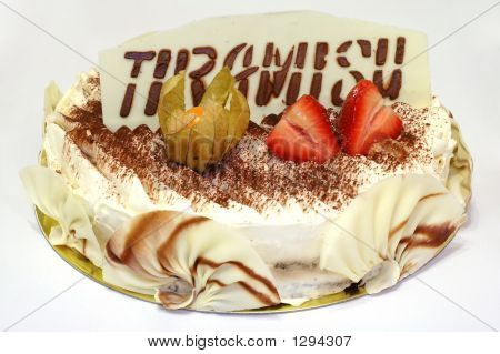 Birthday Cake Of Tiramisu