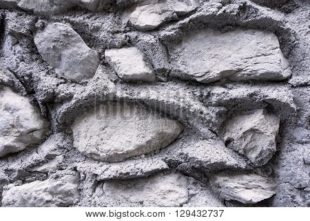 the bumpy textured background from big stones of gray color
