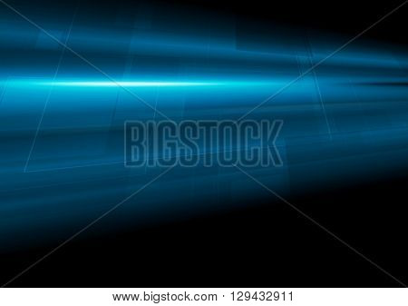 Dark blue tech motion abstract background