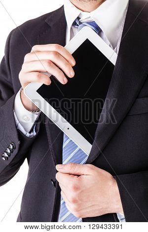 Pulling Tablet From Pocket