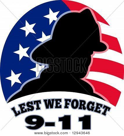 9-11 american fireman