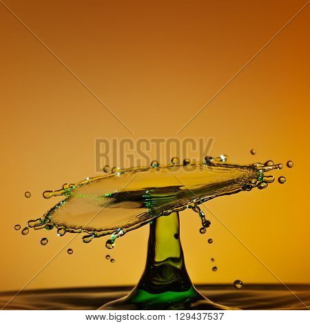 Drop of water; water splash with abstract look
