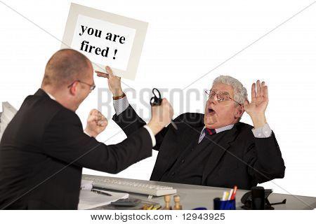fired employee attacking boss