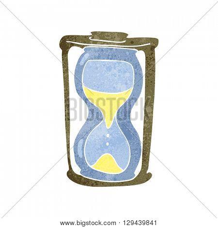 freehand retro cartoon hourglass