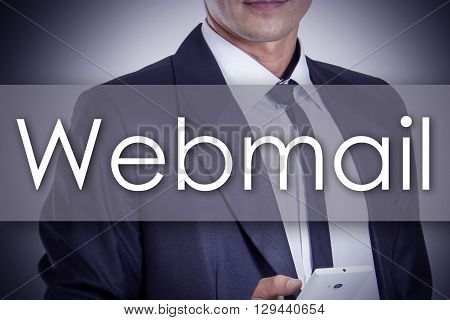 Webmail - Young Businessman With Text - Business Concept