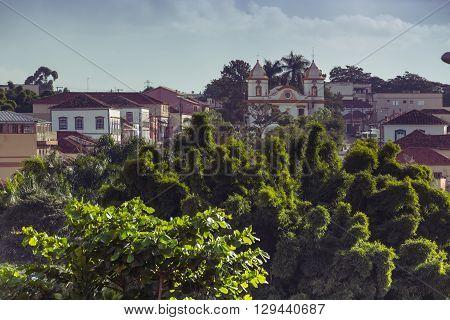 view of the historical town Minas Gerais Brazil