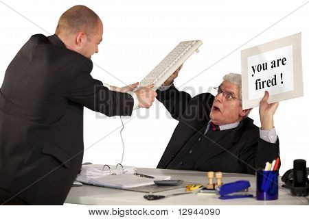 fired employee attacking boss