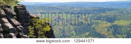 Lilienstein - Saxon Switzerland, GERMANY panorama view mountains
