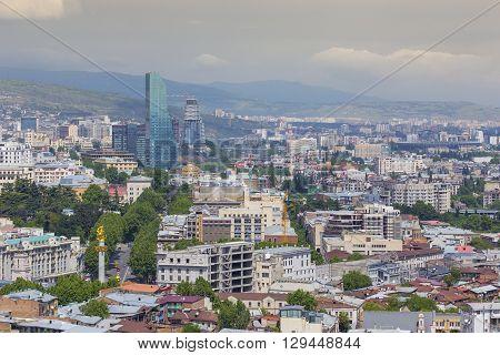 Tbilisi, Georgia - May 07, 2016: Architecture Of Tbilisi, Georgia. Tbilisi Is The Capital And The La