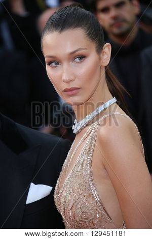 Bella Hadid attends the 'Cafe Society' premiere and the Opening Night Gala during the 69th Cannes Film Festival at the Palais des Festivals on May 11, 2016 in Cannes, France.