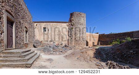 Castelo de Vide, Portugal - July 24, 2015: Interior of the medieval Castelo de Vide Castle. Castelo de Vide, Portalegre, Alto Alentejo, Portugal.