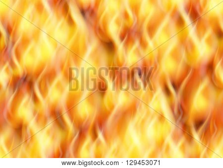 Fire Seamless Pattern Background, Solid Wall of Blazing Red, Orange and Yellow Flames. Eps10, Contains Transparencies. Vector