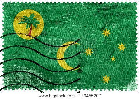 Flag Of Cocos Islands, Old Postage Stamp