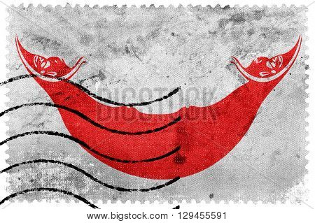 Flag Of Easter Island, Old Postage Stamp