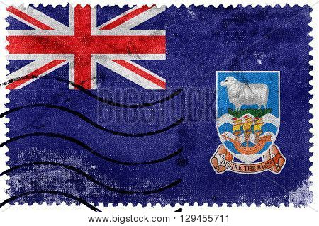 Flag Of Falkland Islands, Old Postage Stamp
