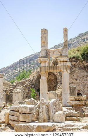Temple of Domitian of Ephesus in Izmir, Turkey