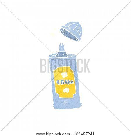 freehand retro cartoon spray whipped cream