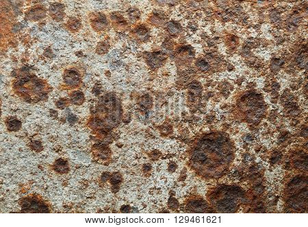 Macro of old eroded metal plate background