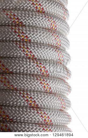 Hank nylon rope isolated on white background