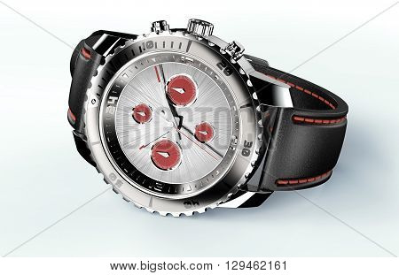 Beautifull Watch Isolated On White With Clipping Path