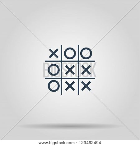 Tic tac toe game. Vector concept illustration for design.