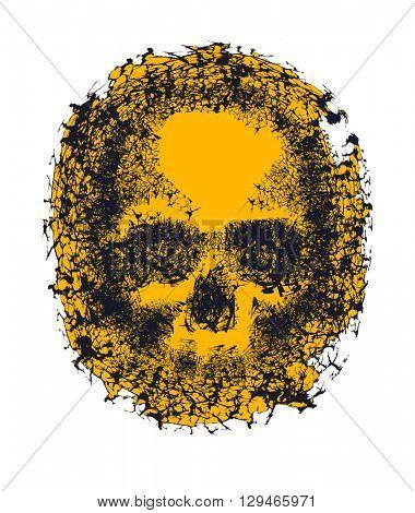Skull. Hand drawn vector illustration
