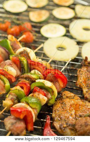 Shashliks On Barbecue