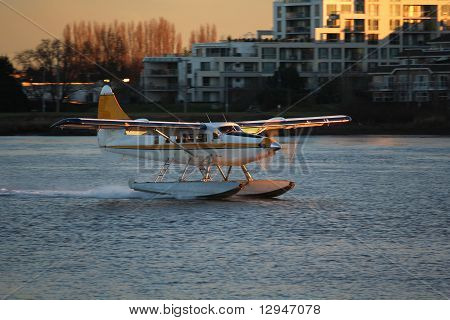 Float Plane River Touchdown
