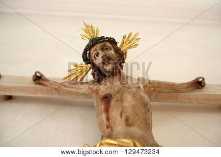 IHLINGEN, GERMANY - OCTOBER 21: Crucifixion, church of Saint James in Ihlingen, Germany on October 21, 2014.