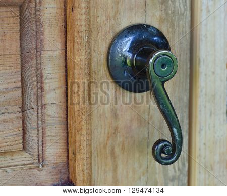 Original door knob is made in the USSR