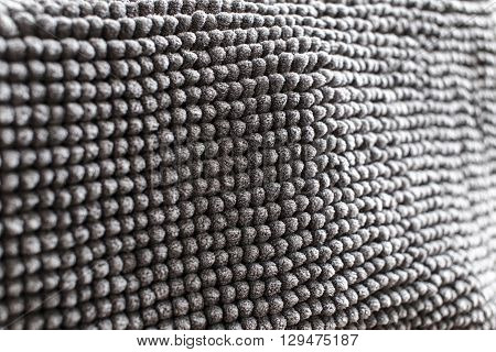 grey microfiber particular in focus with light