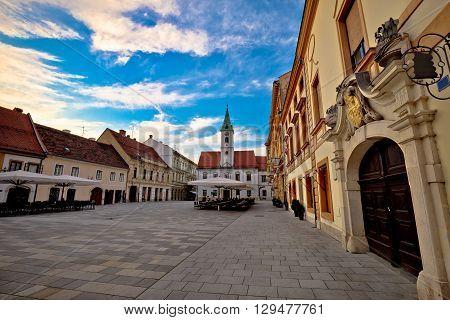 Varazdin baroque architecture in town center Zagorje Croatia
