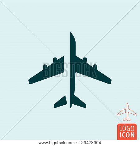 Plane icon. Aircraft transportation symbol. Vector illustration