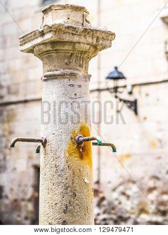 The Fountain of the Felip Neri Square