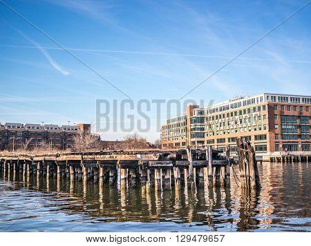 The Wharf Along The Coast