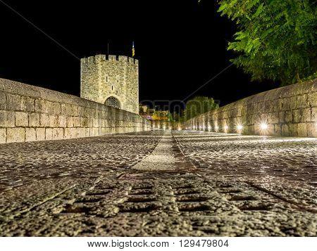 A Night alone on the Besalu Bridge