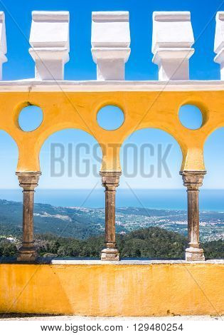 The Colors of Da Pena palace in a sunny day